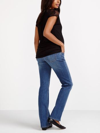 Tall - Medium Wash Bootcut Maternity Jean