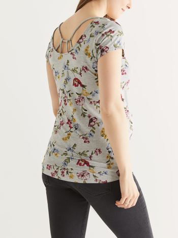 Short Sleeve Floral Maternity Top