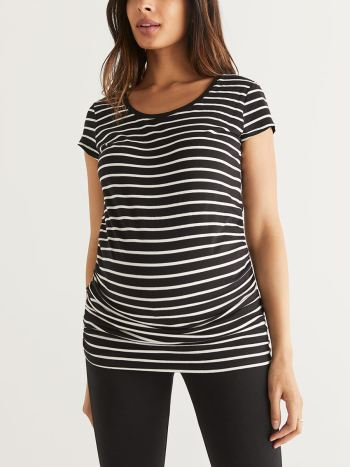 Striped Cotton Maternity T-Shirt