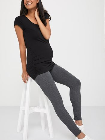 Ruched V-Neck Maternity T-Shirt
