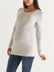 Scoop Neck Maternity Sweater
