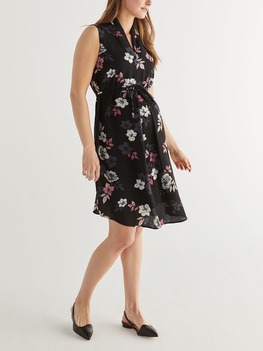 0a38cd00389 Stork   Babe - Sleeveless Box Pleat Maternity Dress
