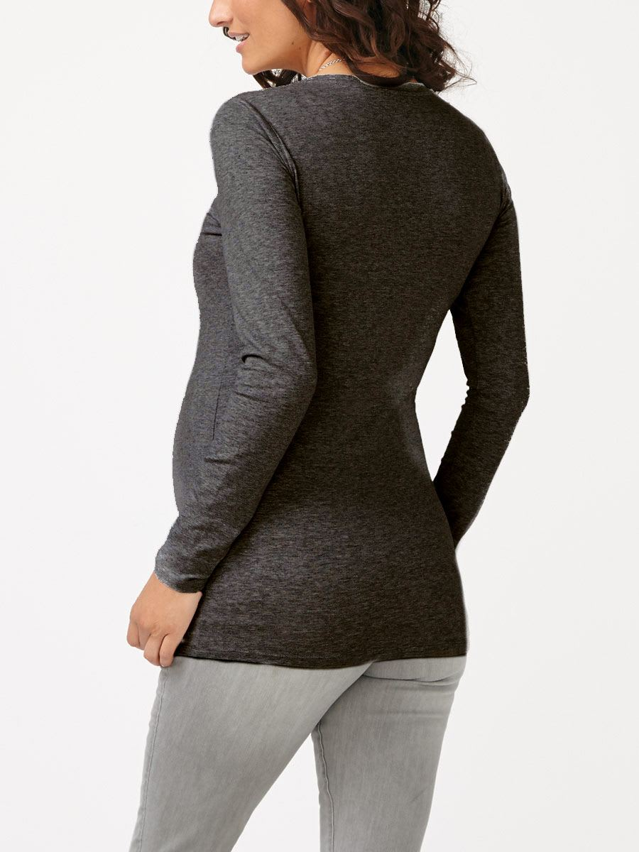 Long Sleeve V-Neck Maternity T-Shirt
