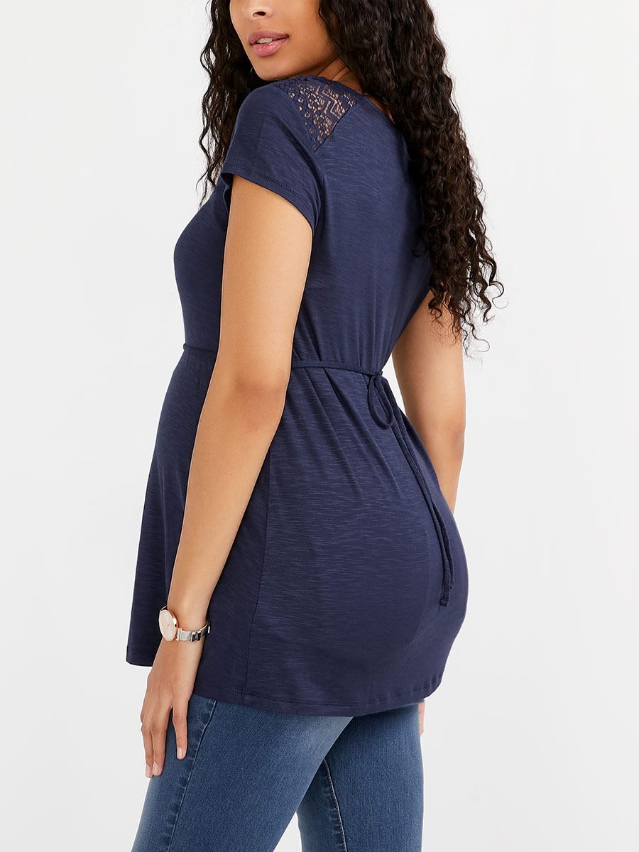 Stork & Babe - Maternity Top with Crochet Detail