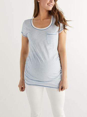 Ruched Short Sleeve Maternity Top