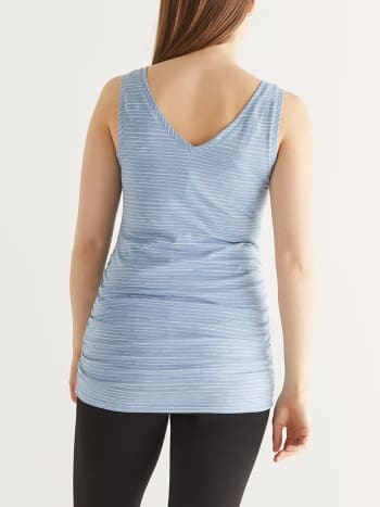Striped Two-Way Maternity Tank Top