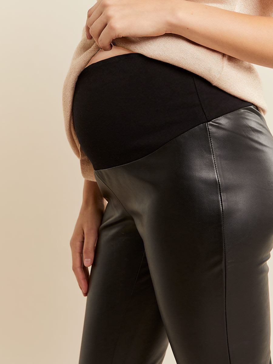 Stork & Babe - Faux Leather Skinny Maternity Pant