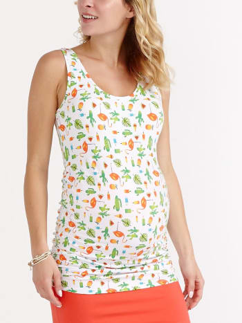 Two-Way Printed Maternity Tank Top