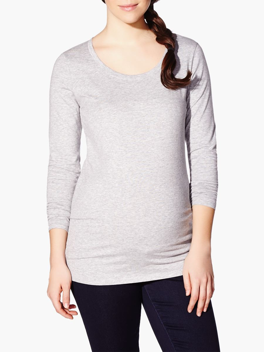 6f73c18169b4e Long Sleeve Crew Neck Maternity T Shirt - DREAMWORKS