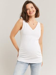 Reversible Tank Top with Side Shirring