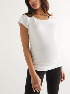 Basic Scoop Neck Maternity T-Shirt