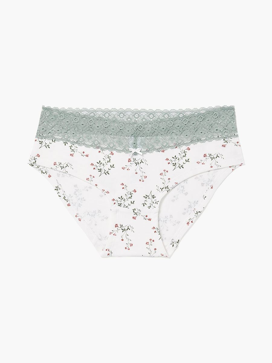 Printed Hipster Maternity Panty with Lace