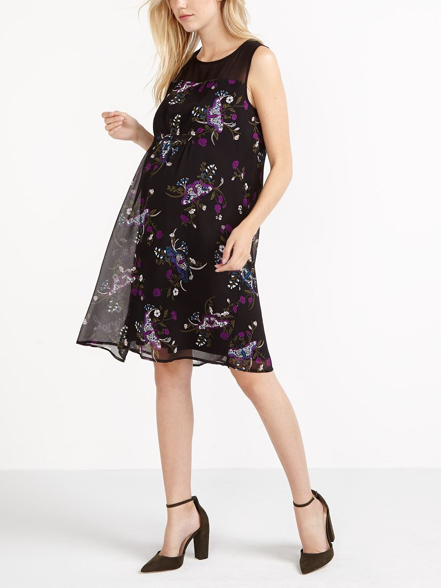 4548aa83ef2 Stork   Babe - Printed Maternity Dress
