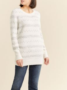 Striped Side Zip Nursing Sweater