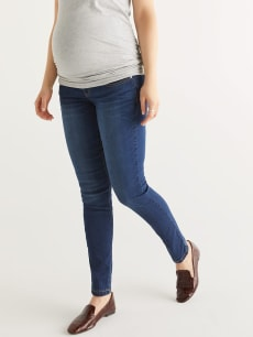Dark Blue Super Skinny Maternity Jean - Tall