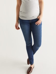 Dark Blue Super Skinny Maternity Jean