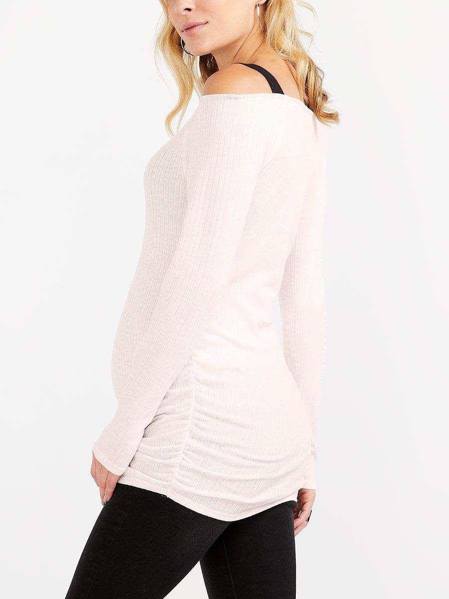 4e3bd2aa1b5 Long Sleeve Maternity Off Shoulder Top