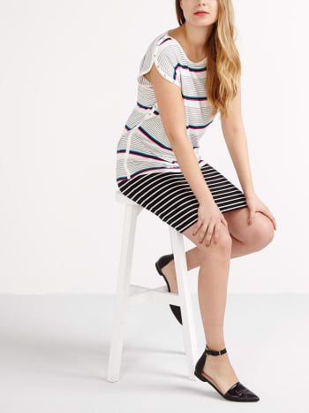 Striped Nursing Top with Snap Buttons