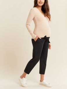 Pull-On Slim Leg Maternity Pant