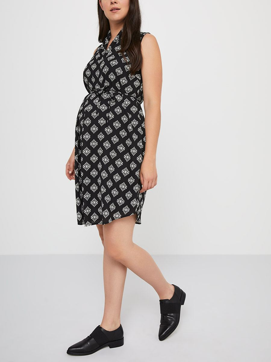40cb6cbef7e Stork   Babe - Printed Maternity Dress