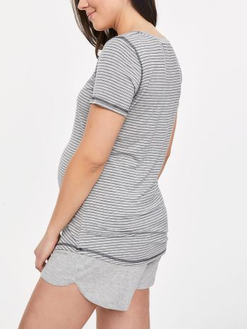 Striped Henley Nursing Top