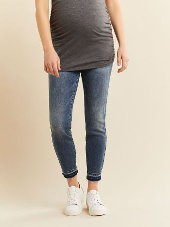 Blue Skinny Ankle Maternity Jean