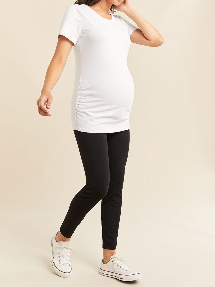 Short Sleeve Crew Neck Maternity T-Shirt