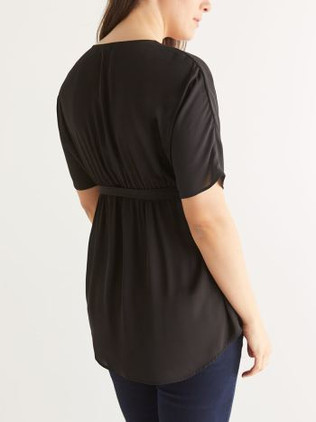 Stork & Babe - Wrap Maternity Blouse with Belt