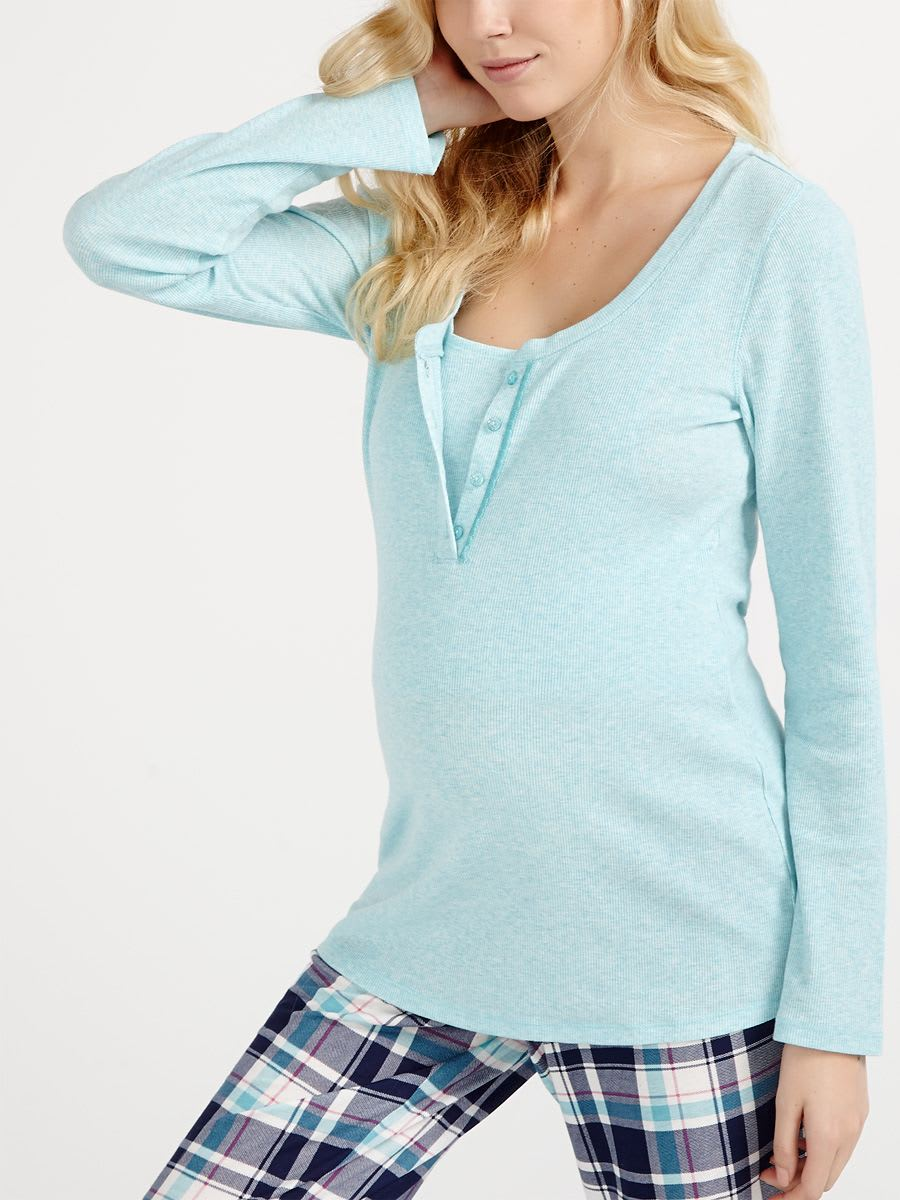 3c7df5b27f8cc Long Sleeve Nursing Pyjama Top | Thyme Maternity