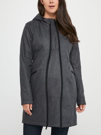 Softshell Maternity Coat with Extender Panel