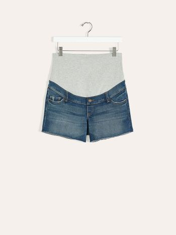 Medium Blue Maternity Denim Short
