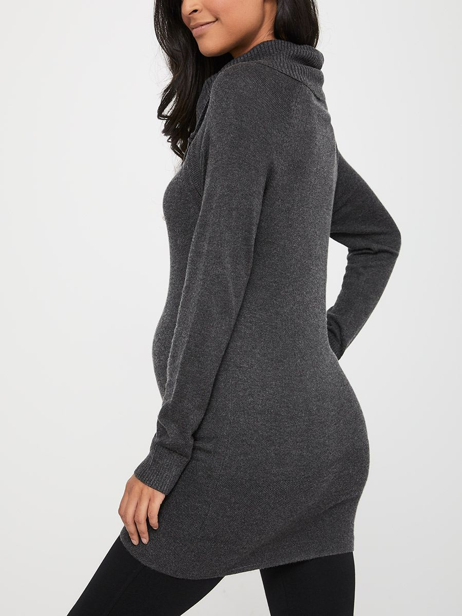 Nursing Sweater with Cowl Neck