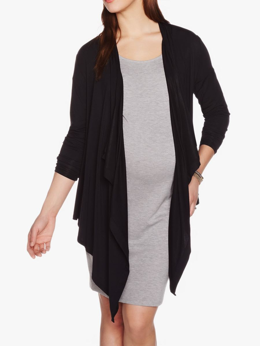 093ad1767af32 Stork & Babe Wrap Maternity Cardigan | Shop Online at Thyme Maternity