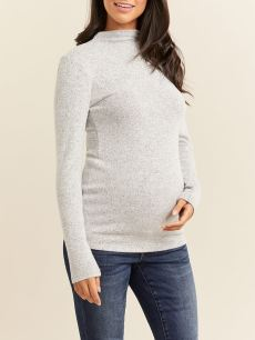 Soft Touch Funnel Neck Maternity Top