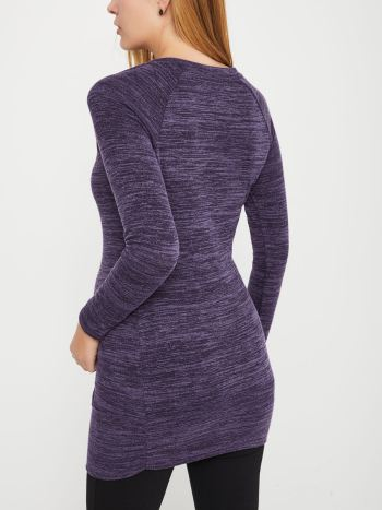 Long Sleeve Nursing Tunic with Zippers