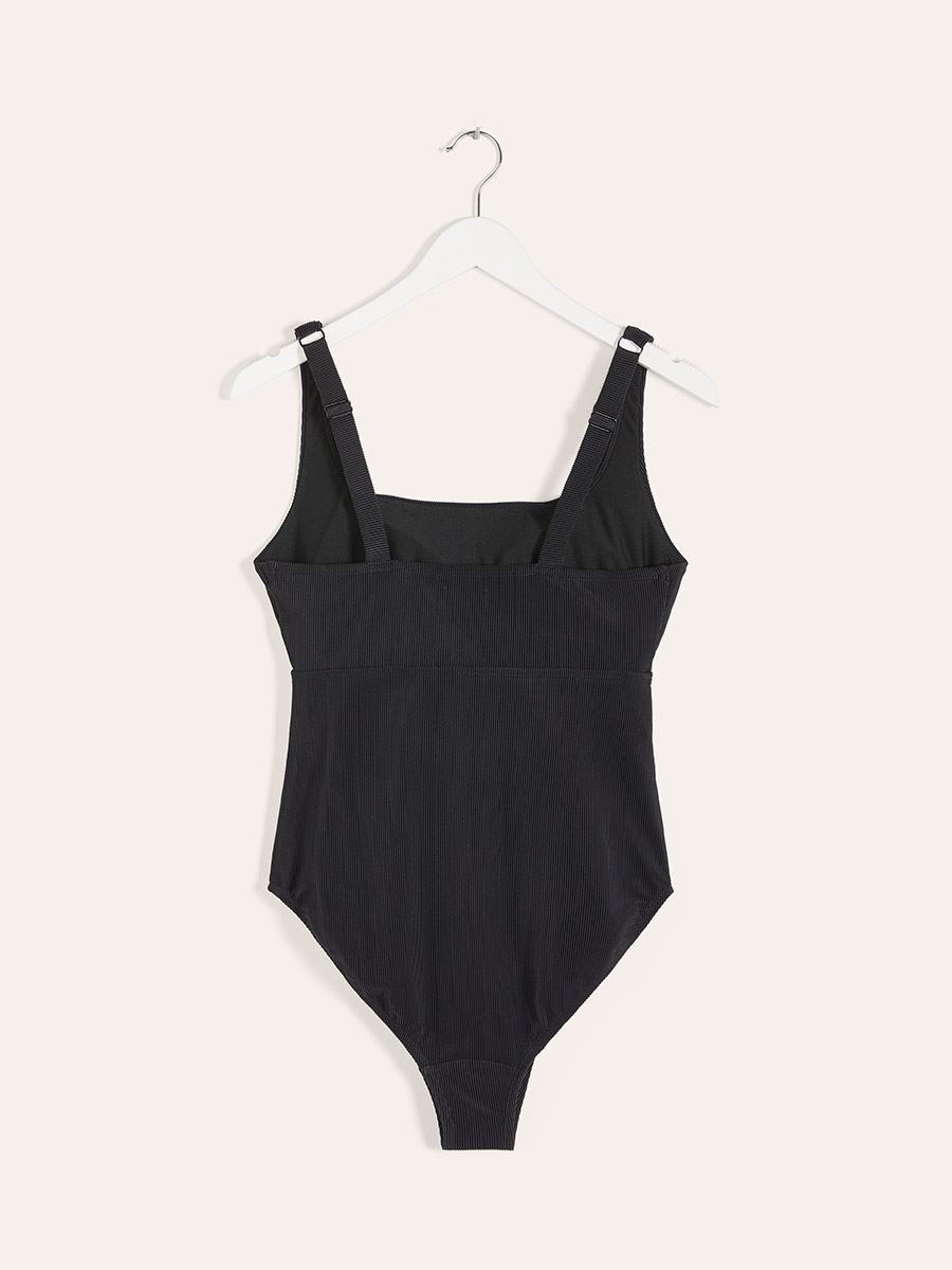 Black One-Piece Maternity Swimsuit