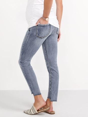 Silver - Aiko Maternity Ankle Skinny Jean