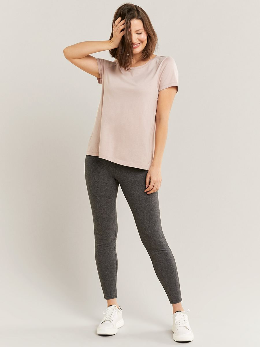Nursing & Maternity T-Shirt with Side Zipper