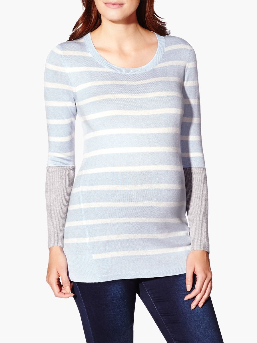 10e10835d Long Sleeve Striped Maternity Sweater