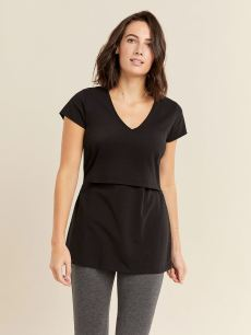 Nursing and Maternity Cotton T-Shirt