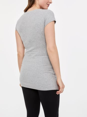 Basic V-Neck Maternity T-Shirt