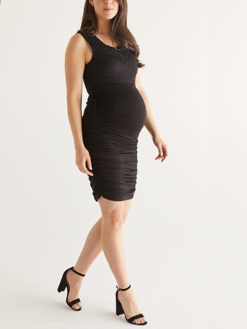 Stork & Babe - Crochet and Lace Maternity Dress