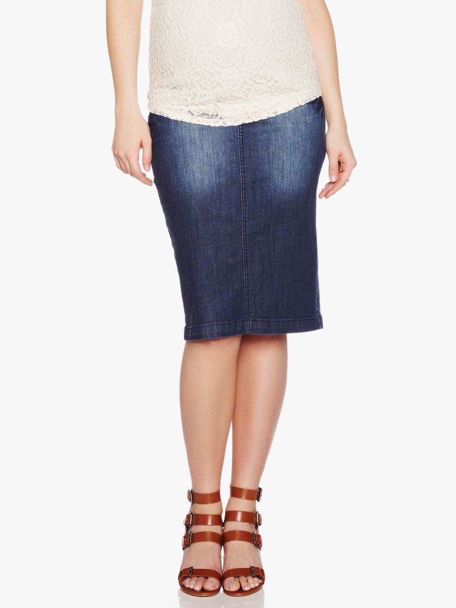 526c5dfd621a2 Denim Maternity Pencil Skirt | Shop Online at Thyme Maternity
