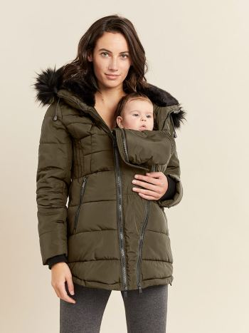 Short Puffer Maternity Coat