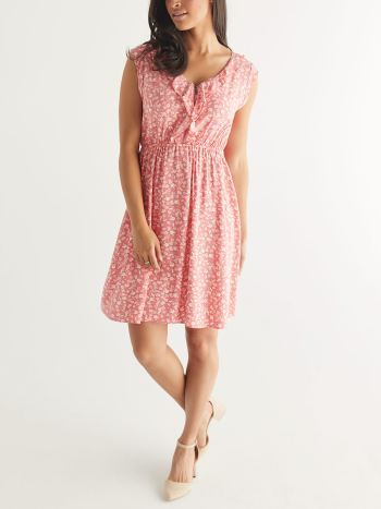 Cap Sleeve Ruffle Nursing Dress
