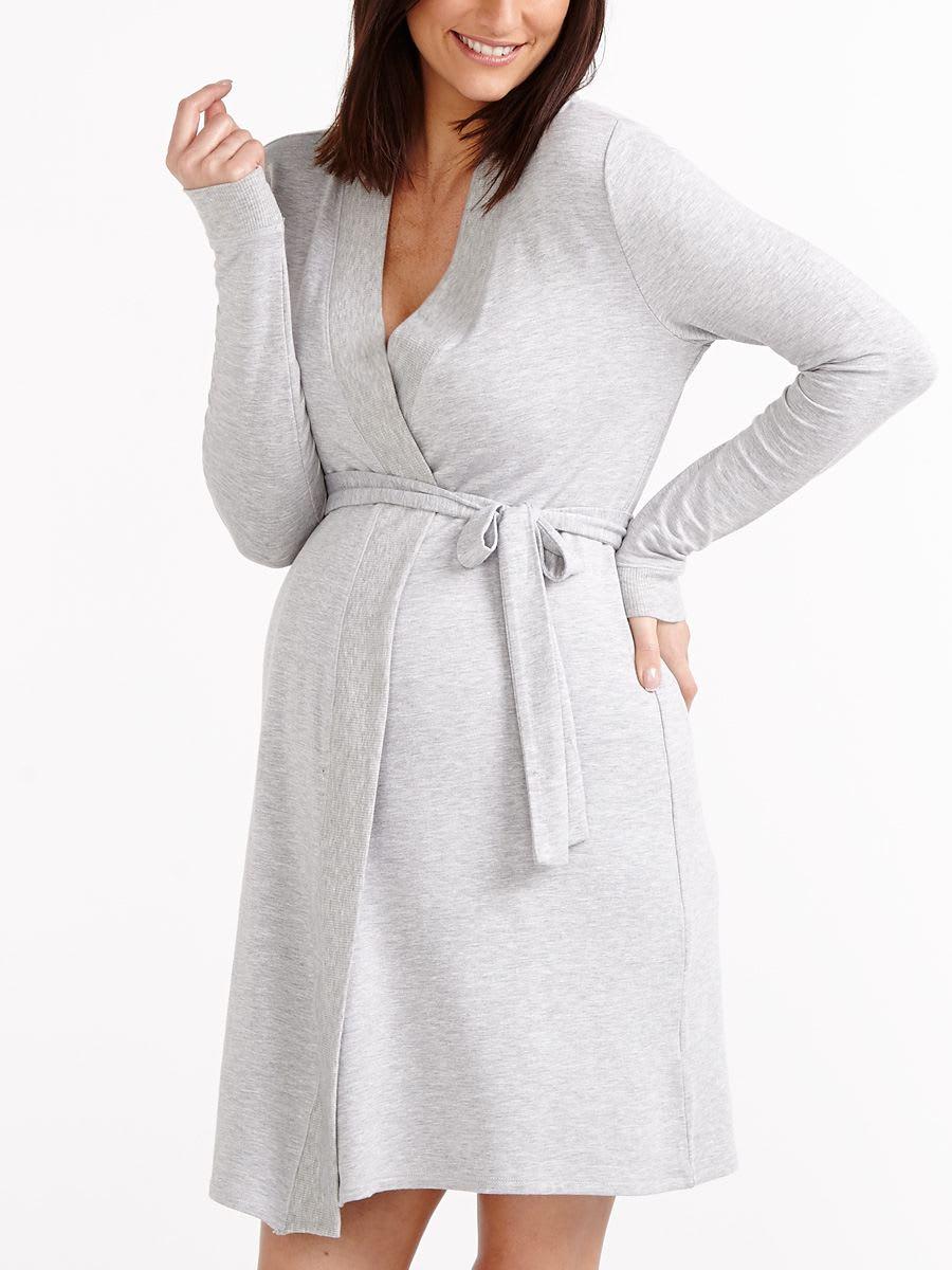 36f6b9654ae Long Sleeve Maternity Robe