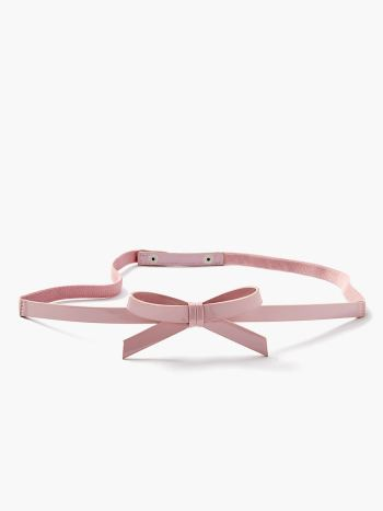 Faux-Leather Maternity Belt with Large Bow
