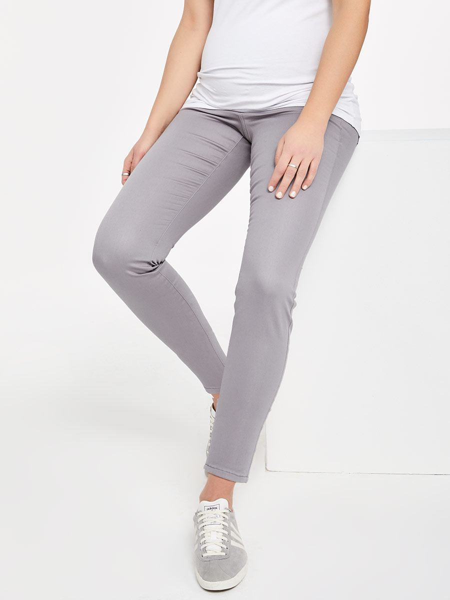 Super Skinny Sateen Maternity Ankle Pant