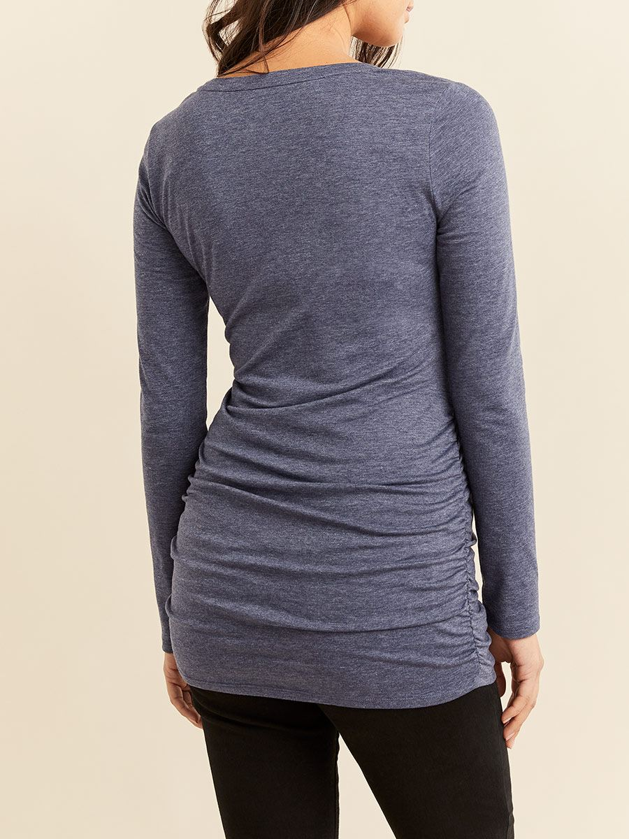 Ruched Long Sleeve Maternity Top