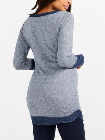Long Sleeve Colour Block Maternity T-Shirt